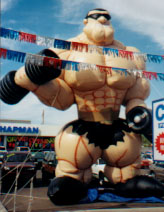 inflable publicitario - muscle, bodybuilder advertising inflatable